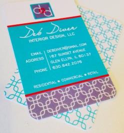 Custom designed business cards