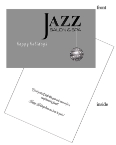 company logo custom holiday card with sequin ornament