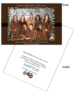 Group holiday photo corporate card