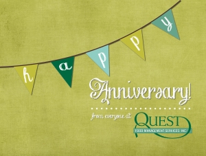 anniversary birthday banner